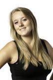 Lachendes blondes Mädchen mit blauen Augen Lizenzfreies Stockbild