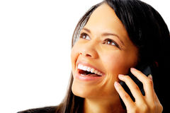 Lachendes Gespräch Lizenzfreies Stockbild