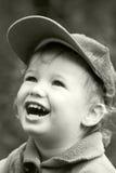 Lachendes Kind der Weinlese Stockfoto