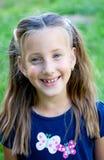 Lachendes kleines Mädchen Stockbild