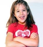 Lachendes kleines Mädchen Lizenzfreie Stockfotos