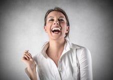 Lachendes Mädchen Stockfoto