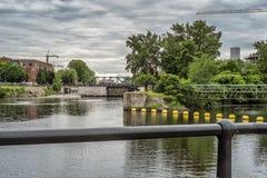 Lachine运河锁 图库摄影