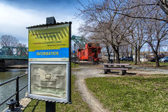 Lachine canal information. Lachine Canal National Historic Site. The gateway to a network of canals linking the Atlantic Ocean to the heart of the continent, the stock photo
