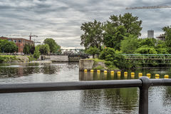 Lachine Canal locks. Since 1848, the canal has had 5 locks: Lachine, Côte-Saint-Paul, Saint-Gabriel and 2 locks at Old Port of Montreal. But initially it had stock photography