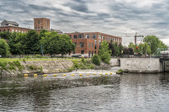Lachine Canal locks. Since 1848, the canal has had 5 locks: Lachine, Côte-Saint-Paul, Saint-Gabriel and 2 locks at Old Port of Montreal. But initially it had royalty free stock photos