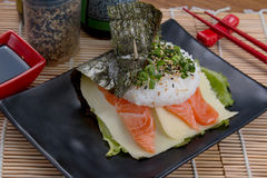 Lachs-fodd Japaner Stockfotografie