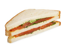 Lachsclub Sandwich Lizenzfreie Stockfotos