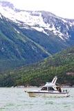 Lachsfischerboot Alaskas Skagway Stockfotografie