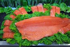 Lachsfischfilet Lizenzfreies Stockbild