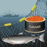 Lachsfischsatz stock abbildung