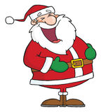 Lacht Weihnachtsmann Stockfotos