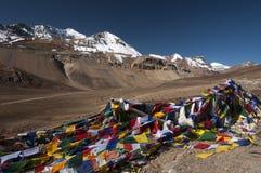 Ла Lachung (5079m) передает дальше путь от Manali к LEh, Индии Стоковые Изображения