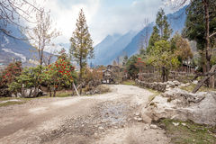 Lachung in North Sikkim , India. Beautiful village royalty free stock image