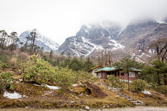 Lachung in North Sikkim , India. Beautiful village stock photography