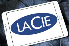 LaCie-Computerhardware-Firmenlogo Stockfoto