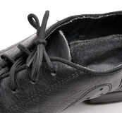 Lacing on a ballroom shoe Royalty Free Stock Images