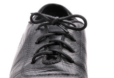 Lacing on a ballroom shoe Stock Images