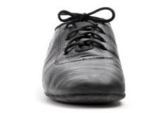 Lacing on a ballroom shoe Stock Photography
