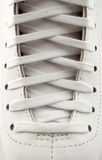 Lacing of a figure skate stock photography