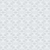 Lacing geometric ornament in art deco style. In silver and white. Texture for web, print, wallpaper, fall winter fashion fabric, textile design, wedding Stock Illustration