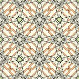Lacing pattern with stylized leaves and flowers. Royalty Free Stock Photography