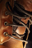 Lacing shoe. Stock Photo