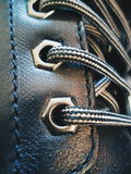 lacing the shoe, macro, texture Stock Photography