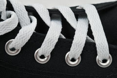 Lacing on sneakers Royalty Free Stock Image