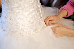 Lacing Wedding Dress Stock Images