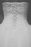 Lacing wedding dress Royalty Free Stock Photos
