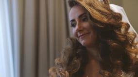 Lacing Wedding Dress stock video footage