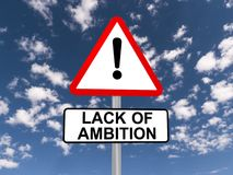 Lack of ambition sign Royalty Free Stock Photos