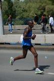 Lack-Läufer Henry-Kemboi im Belgrad-Marathon Lizenzfreie Stockfotografie