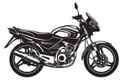 Вlack sports bike. Motorcycle. Stock Photos