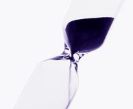 Lack of time. Hourglass detailed, with clipping path Royalty Free Stock Photos