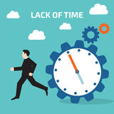 Lack of time. Vector illustration stock Stock Image