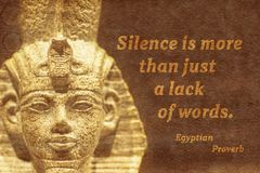 Lack of words Ancient Egypt Royalty Free Stock Photo