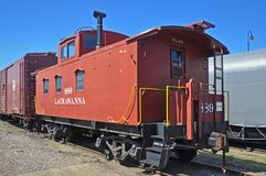 Lackawanna Caboose, Scranton, PA, de V.S. stock afbeeldingen