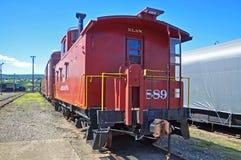 Lackawanna Caboose, Scranton, PA, de V.S. stock afbeelding