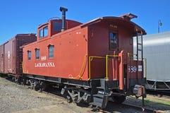 Lackawanna Caboose, Scranton, PA, USA arkivbilder