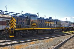 Lackawanna-Eisenbahn-Diesellokomotive, Scranton, PA, USA lizenzfreie stockfotografie