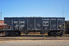 Lackawanna fraktbil, Scranton, PA, USA royaltyfri fotografi