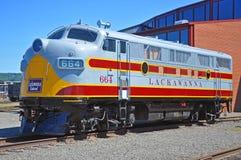 Lackawanna linii kolejowej dieslowska lokomotywa, Scranton, PA, usa obraz stock