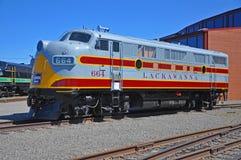 Lackawanna linii kolejowej dieslowska lokomotywa, Scranton, PA, usa fotografia stock