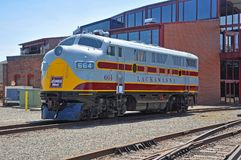 Lackawanna linii kolejowej dieslowska lokomotywa, Scranton, PA, usa obraz royalty free
