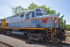 Lackawanna Railroad diesel locomotive, Scranton, PA, USA. Delaware, Lackawanna Railroad DL 405 is a Alco C420 diesel locomotive in Steamtown National Historic stock photo