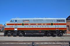 Lackawanna Railroad diesel locomotive, Scranton, PA, USA royalty free stock photo