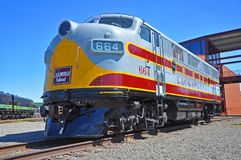Lackawanna Railroad diesel locomotive, Scranton, PA, USA stock image