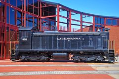 Lackawanna Railroad diesel locomotive, Scranton, PA, USA. Delaware, Lackawanna & Western Railroad DLW 426 is a EMD SC diesel locomotive in Steamtown National royalty free stock photo